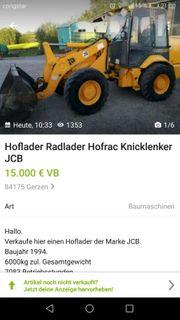 jcbr radlader 6-7000kg mit schaufel