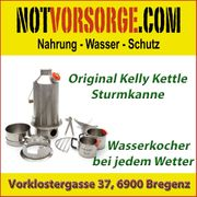 Original Kelly Kettle Sturmkanne Edelstahl