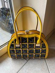 Handtasche Lack gelb Angelo Firenze