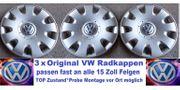 3 Originale VW Radkappen 15
