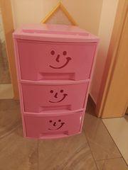 Schubladencontainer 3er rosa
