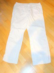 Neuwertige weiße Leinenhose Hose Größe