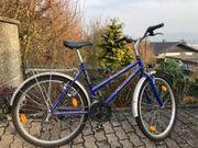 Damen Mädchen Fahrrad blau