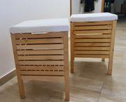 2 x IKEA MOLGER Badezimmer-Hocker