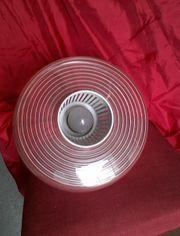 50er Jahre Hängelampe Glas rote