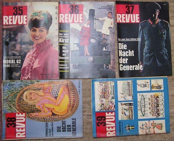 Vintage Zeitschrift Revue vom September 1962