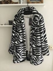 NEU Zwillingsherz Mantel Fake Fur