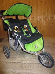 Puppen Doppelwagen CHIC mit Wickeltasche