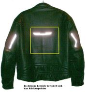 Motorrad-Lederjacke schwarz Grösse L von