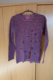 Shirt flieder mit Streifen und