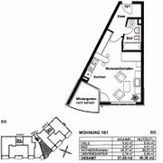 1 Zimmerwohnung 37 58qm EG
