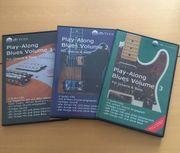 3 DVDs Playalong Blues Gitarre