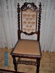 Flämische Esszimmerstühle antik
