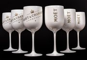 Moet CHANDON Acryl Becher Champagnerglas