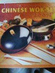 unbenutzt Chinese wok-set