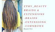 Schöne Braids dreadlocks und Extensions