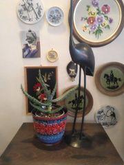 Vintage Blumentopf Ü Keramik