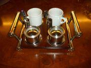 Zweier-Eisbecher Kaffe Set
