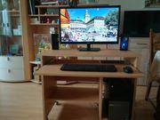 Kompletter PC-Arbeitsplatz mit Computertisch
