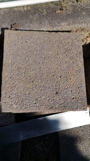 53x Terrassenplatten aus Beton anthrazit
