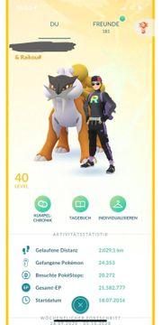 Pokémon Go account Lv40