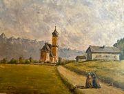 Ölbild Bartholomäberg von Reinhold Pallas