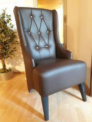 Sessel Stuhl Loungesessel Kunstleder Gutmann