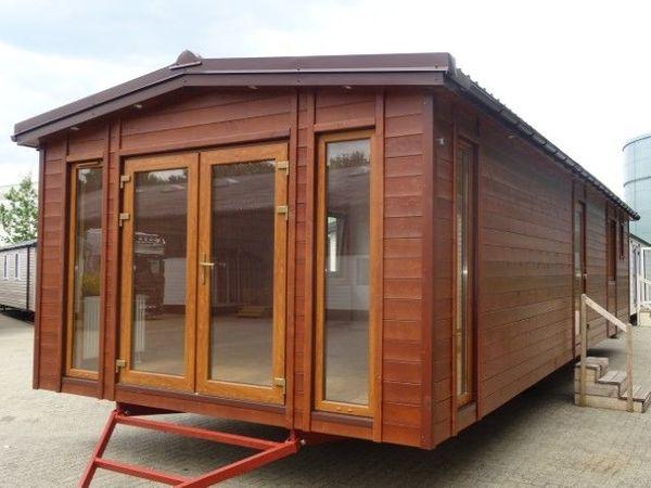 mobilheim mit sauna 12x4 15