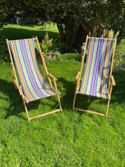 2 Ikea-Liegestühle Sonnenliegen aus Holz