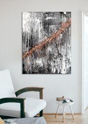 Abstraktes Acrylbild auf Leinwand mit