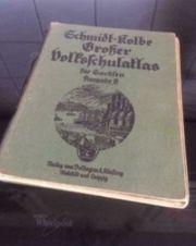 Antiker Schmidt-Kolbe Großer Volksschulatlas 1939
