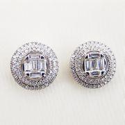 Ohrringe Weißgold 750er Diamanten 0