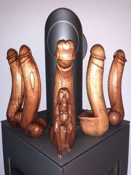 Sonstige Erotikartikel - Holz Dildo