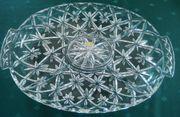 Bleikristall Platte Schale mit Einteilungen