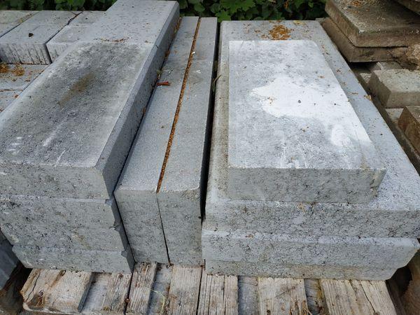 KANN Randsteine Beton grau gefast