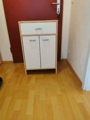 Badezimmer Wohnzimmer Schrank weiß buche