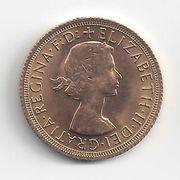 1 Pfund Sovereign Goldmünze Elisabeth