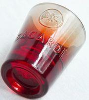 66x Bacardi Fuego Schnapsglas Shotglas