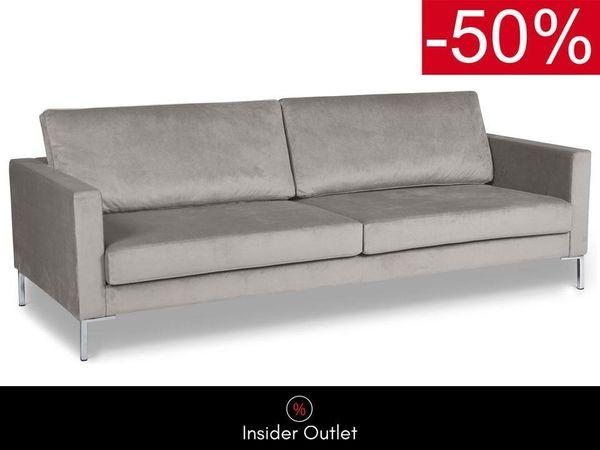 Samt Sofa 3 Sitzer Hellgrau Skandinavisch In Koln Polster Sessel Couch Kaufen Und Verkaufen Uber Private Kleinanzeigen