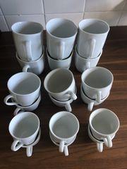 Porzellan Tassen-Set inkl Untertassen 30-teilig