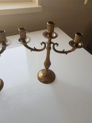 Antiker Messing Kerzenständer 3 Stk
