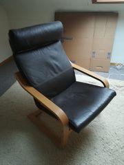 Schwingsessel Sessel Kunstleder Ikea PÖANG