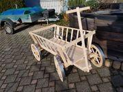 dekorativer Leiterwagen Holzkarren Karren aus