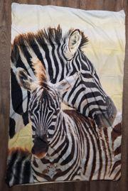 Zebra Bettwäsche Fotodruck Stute mit