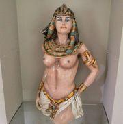 83cm Italienisches Majolika Keramik figur