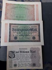 Altes Geld scheine so wie