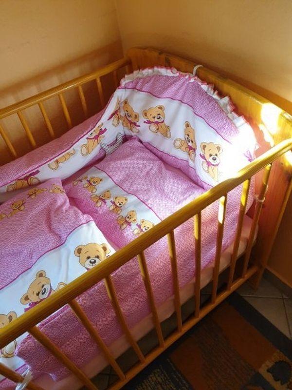 Kombi Kinderholzbett 70x140 Komplett Mit Verschiedener Bettwäsche