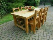 Sehr schwerer Landhausküchentisch Stühle aus
