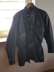 Motorrad-Lederjacke schwarz Grösse 44