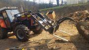 Forstgreife für Frontlader Holzgreifer Euroaufnahme